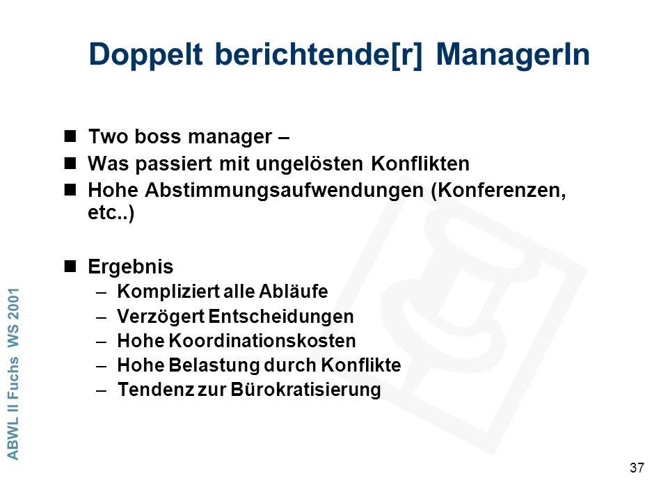 Doppelt berichtende[r] ManagerIn